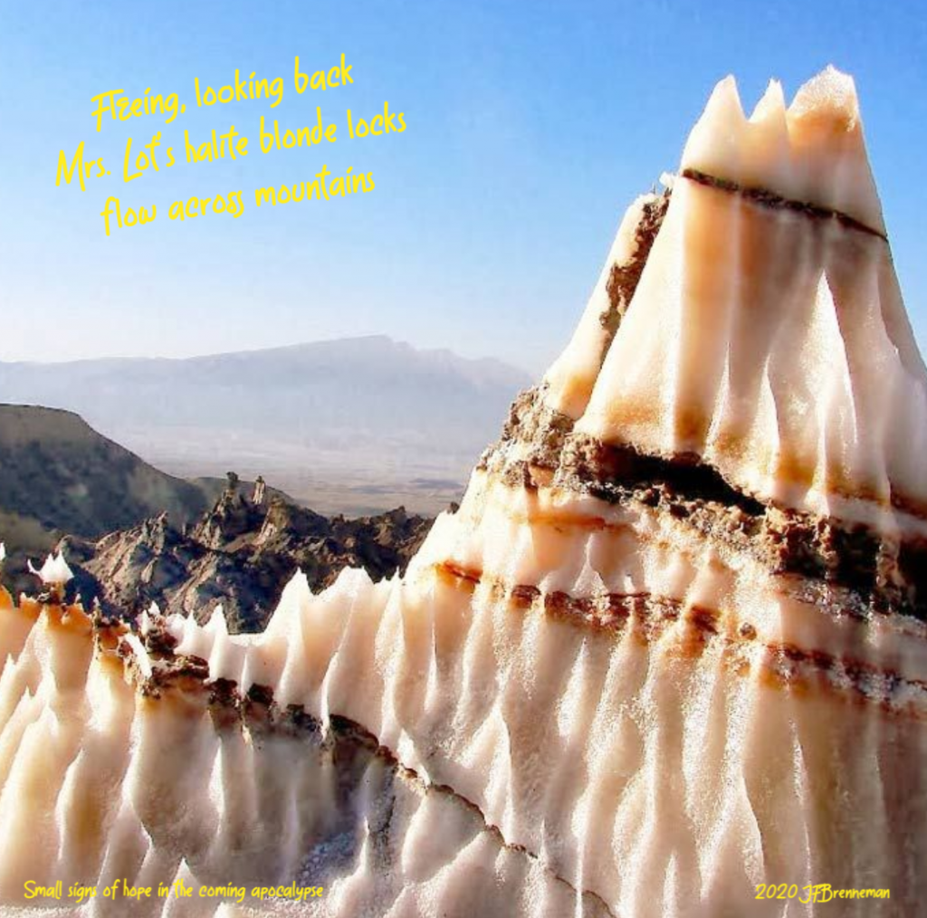 salt dome, Zagros Mountains; text overlaid on image